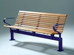 - Wooden Bench with armrests NO2 | Bench - Nola Industrier