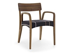- Solid wood chair with armrests MORAAR PAUL SMITH - Passoni Nature