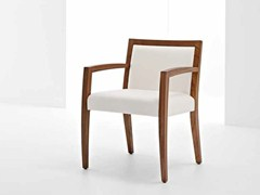 - Upholstered chair with armrests SAFFO B LIGHT - Passoni Nature