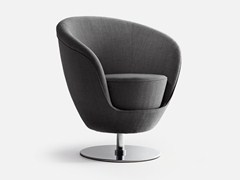 - Swivel fabric guest chair JANGO | Swivel armchair - La Cividina