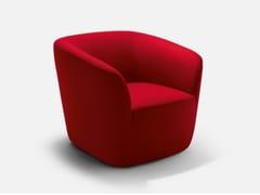 - Fabric guest chair with armrests DEP | Armchair - La Cividina