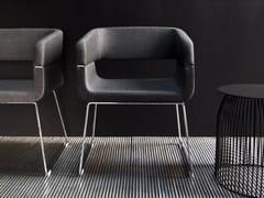 - Sled base easy chair with armrests MATRIX | Sled base easy chair - La Cividina