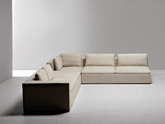 - Corner sectional fabric sofa PUZZLE | Corner sofa - La Cividina