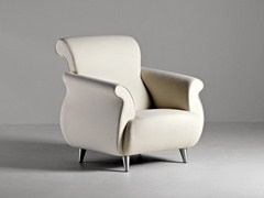 - Fabric guest chair with armrests GENESIS | Fabric armchair - La Cividina