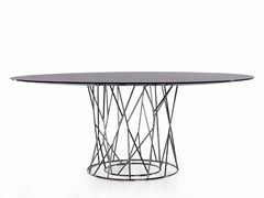 - Round steel table SYNAPSIS | Round table - Porro