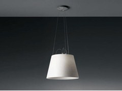 - Direct light halogen satin pendant lamp TOLOMEO SUSPENSION MEGA - Artemide Italia