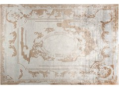 - Handmade rectangular silk rug FONTENAY NEW AGE SILVER - EDITION BOUGAINVILLE