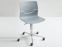 - Technopolymer chair with 5-spoke base with casters SLOT 5R - GABER