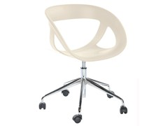 - Technopolymer chair with 5-spoke base with casters MOEMA 76 5R - GABER