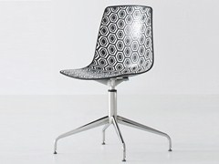 - Swivel technopolymer chair with 4-spoke base ALHAMBRA L - GABER