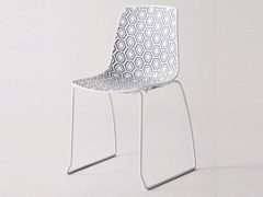 - Sled base stackable technopolymer chair ALHAMBRA S - GABER