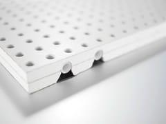 Pannelli per controsoffitto fonoassorbente radiante in cartongessoPannelli per controsoffitto radiante - REHAU