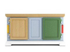 - Lacquered cardboard sideboard PAPER BUFFET PATCHWORK - Moooi©