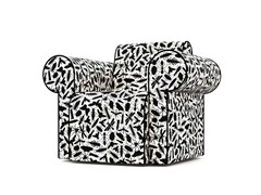 - Upholstered Dacron® armchair with armrests LABYRINTH CHAIR INSECT - Moooi©
