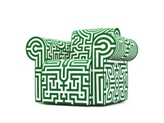 - Upholstered Dacron® armchair with armrests LABYRINTH CHAIR ORIGINAL - Moooi©
