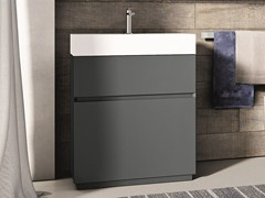 - Lacquered single vanity unit CUBIK | Lacquered vanity unit - IdeaGroup