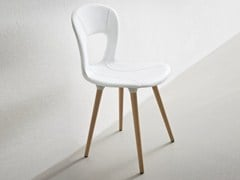 - Upholstered wooden chair BLOG BL - GABER
