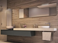 - Wall-mounted vanity unit with mirror CUBIK | Vanity unit with mirror - IdeaGroup