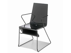 - Sled base chair with armrests SNAKE 45 - GABER