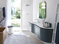 - Lacquered vanity unit with mirror COMP MSP10 - IdeaGroup