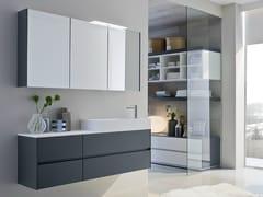 - Mobile lavabo laccato singolo con specchio COMP N07 | Mobile lavabo - IdeaGroup