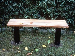 - Backless wooden Bench CITY   Backless Bench - Nola Industrier