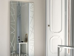 - Rectangular wall-mounted mirror SEGMENT RECTANGULAR - SOVET ITALIA