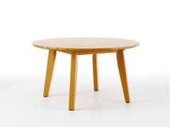 - Round wooden garden table HJORTHAGEN   Round garden table - Nola Industrier