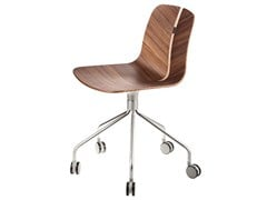 - Wooden chair with 5-spoke base with casters LINK   Chair with 5-spoke base - Lapalma