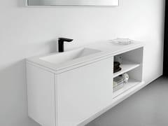 - Lacquered vanity unit with doors STRATO | Vanity unit - INBANI