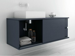 - Lacquered wall-mounted vanity unit STRATO | Wall-mounted vanity unit - INBANI