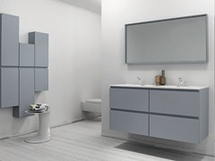 - Lacquered vanity unit with drawers STRATO | Lacquered vanity unit - INBANI