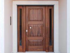 Porta d'ingresso blindata in noce con pannelli in vetroSUPERIOR - 16.5098 M16 - BAUXT
