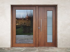 Porta d'ingresso blindata in legno e vetroSUPERIOR - 16.5082 M16 - BAUXT
