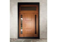 Porta d'ingresso blindata in rovere con pannelli in vetroELITE - 16.5086 M60Vip - BAUXT
