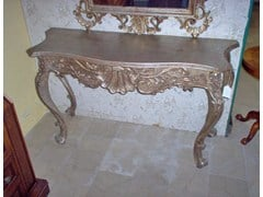 - Lacquered solid wood console table PROJECTS   Wooden console table - Arvestyle