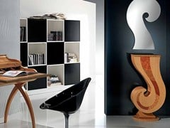 - Free standing wooden hallway unit PUNTO INTERROGATIVO | Hallway unit - Carpanelli Contemporary