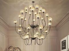 - Lampada a sospensione a luce diretta in vetro soffiato PUPPET SP 36P - Vetreria Vistosi