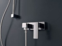 - 1 hole shower mixer with polished finishing QQUADRO - ZAZZERI