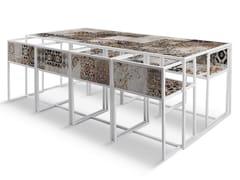 - Rectangular painted metal table QR-1A/1B - MOMENTI di Bagnai Matteo
