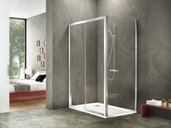 - Corner rectangular glass and aluminium shower cabin STILA 2000 - DUKA