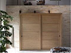 - Solid wood wardrobe with sliding doors QUADRA | Wardrobe - Devina Nais