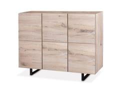 - Oak highboard with doors QUADRA | Wooden highboard - Oliver B.