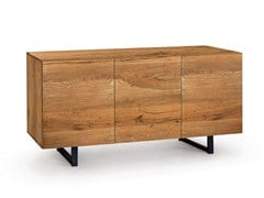 - Oak sideboard with doors QUADRA | Wooden sideboard - Oliver B.