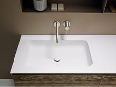 - Corian® washbasin countertop QUADRO 65 - INBANI