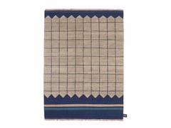 - Tappeto fatto a mano in lana a motivi geometrici QUADRO CELESTE #1 - cc-tapis ®