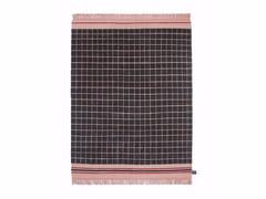 - Tappeto fatto a mano in lana a motivi geometrici QUADRO CELESTE #1105 - cc-tapis ®