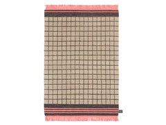 - Handmade wool rug with geometric shapes QUADRO CELESTE #15 - cc-tapis ®