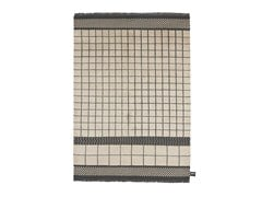 - Handmade wool rug with geometric shapes QUADRO CELESTE #260 - cc-tapis ®