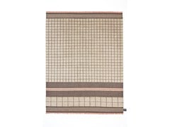 - Handmade wool rug with geometric shapes QUADRO CELESTE #34 - cc-tapis ®